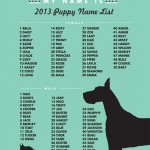 Most Popular Puppy Name of 2013