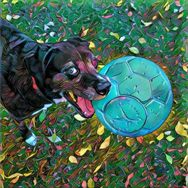 Dog With Prisma Tokyo Effect