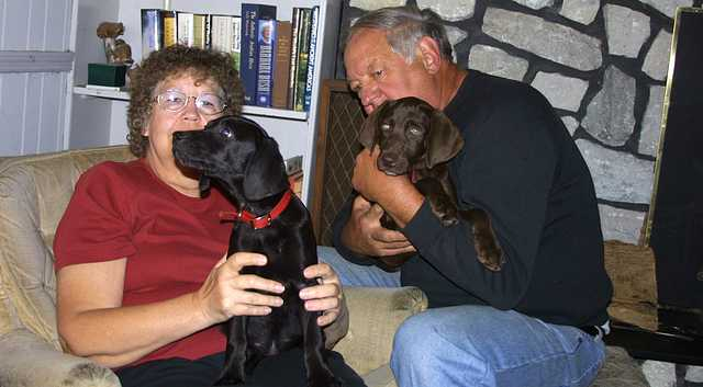 Mom and Dad With Dogs